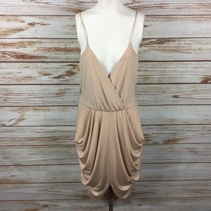 NEW Charlotte Russe Draped Cami High Low Dress